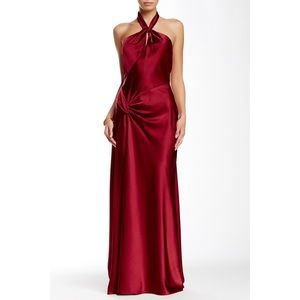 Issue New York Strapless Embellished Silk Gown
